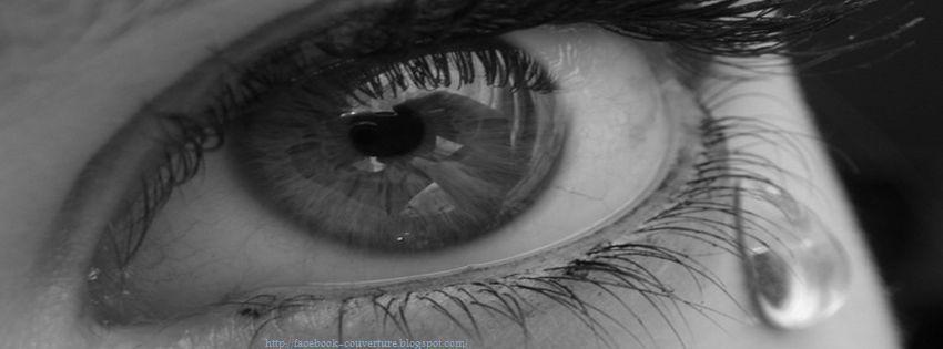 photo de couverture facebook oeil qui pleure