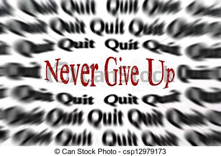 photo de couverture never give up