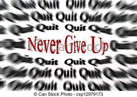 photo de couverture never give up