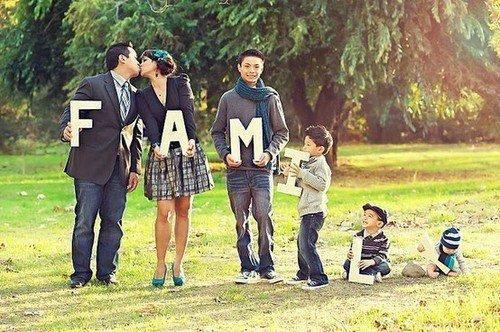 photo de famille 8 personnes