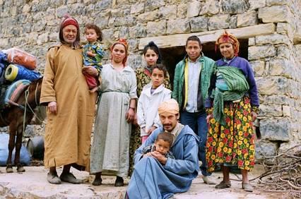 photo de famille arabe