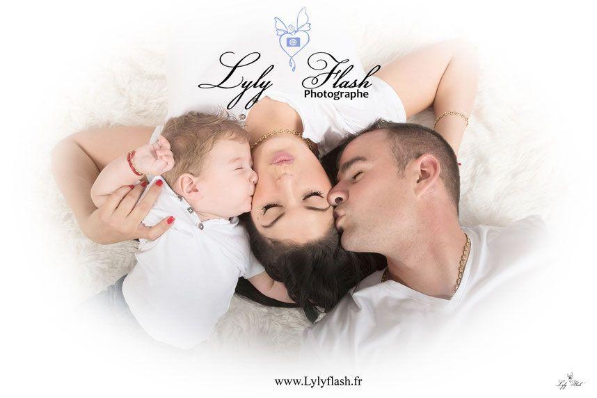 photo de famille avec bebe
