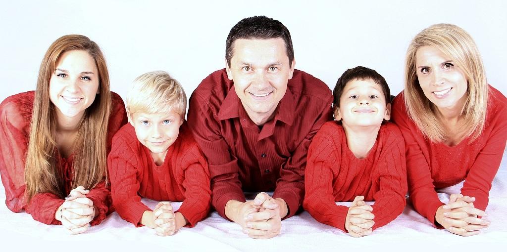 photo de famille de 5 personnes