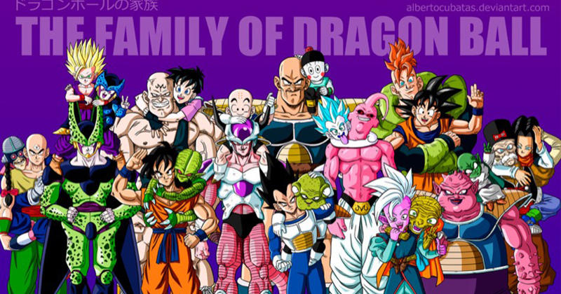 photo de famille dragon ball z