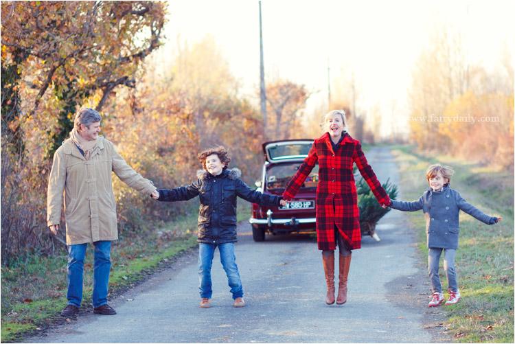 photo de famille en hiver