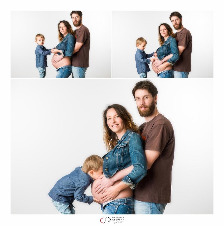 photo de famille grossesse