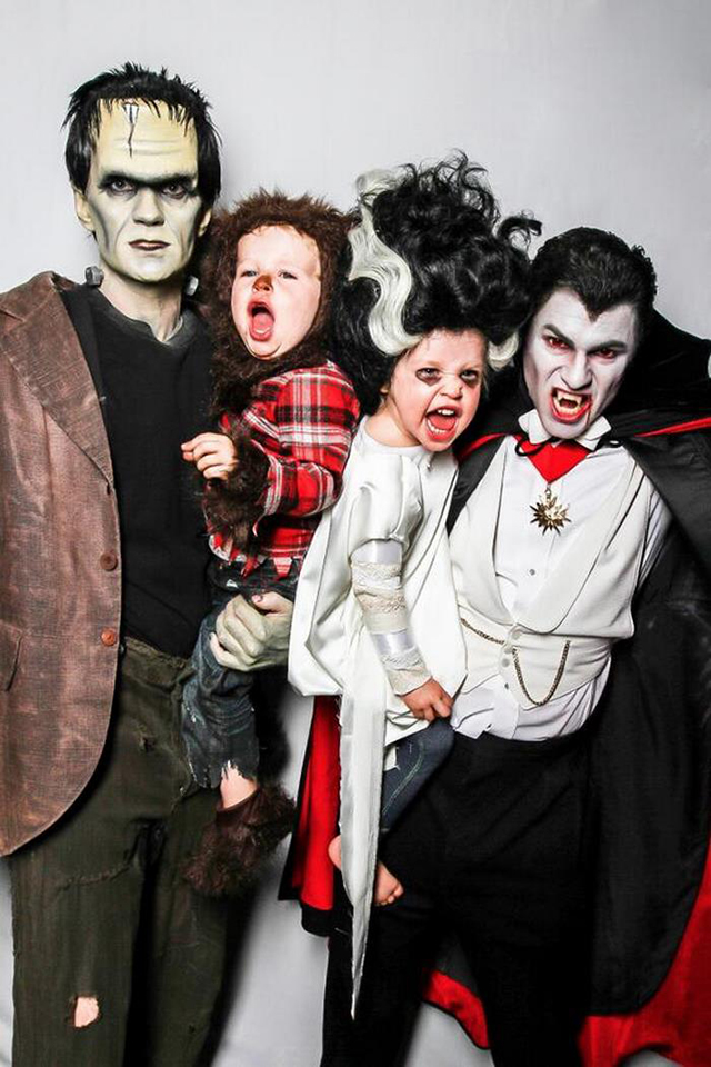 photo de famille halloween