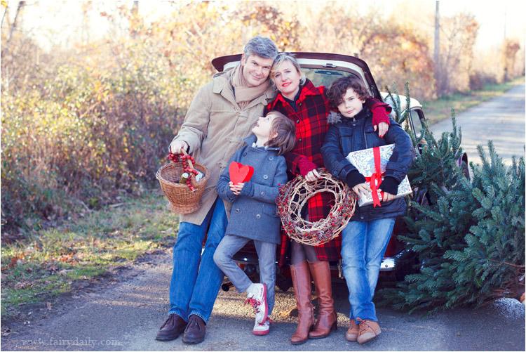photo de famille hiver