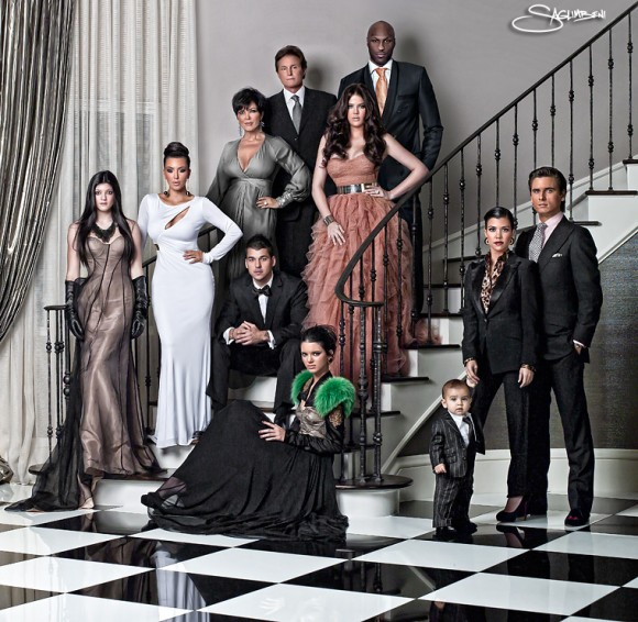 photo de famille kardashian 2013