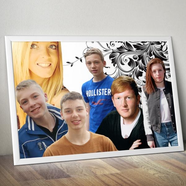 photo de famille montage