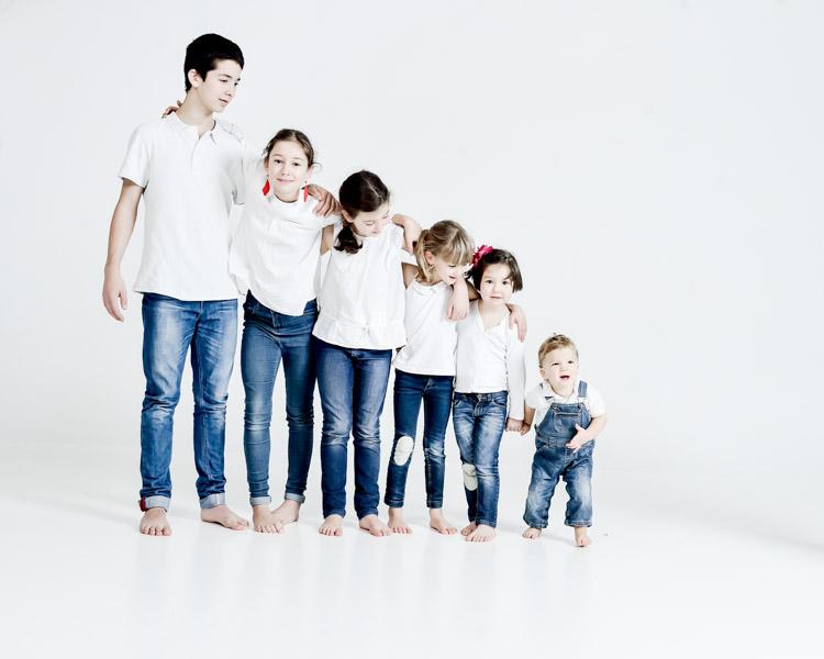 photo de famille nombreuse originale